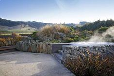 Hunters Retreat | Design & Garden Landscapes | Dunedin, NZ House Landscape, Garden Landscape Design, Garden Landscaping, Garden Ideas Nz, Garden Makeover, Garden Planning, Nativity, Te Anau, Waterfall