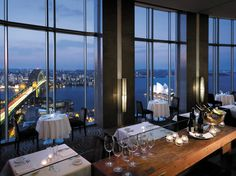 From the Blu Bar 36 of Sydney's Shangri-La. Great wines, great views.