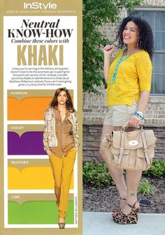Neutral Know-How: Khaki + Mustard  Another great combo by the Fashionista Next door.