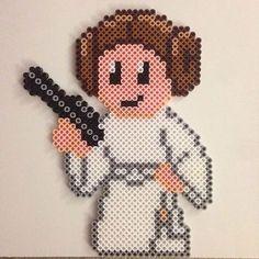 Princess Leia - Star Wars hama beads by Tina Hendriksen