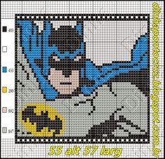 Dinha Ponto Cruz: Batman Ponto cruz Blackwork Embroidery, Cross Stitch Embroidery, Cross Stitch Patterns, Pearler Bead Patterns, Perler Patterns, Dc Comics, Batman, Marvel Cross Stitch, Graph Paper Art