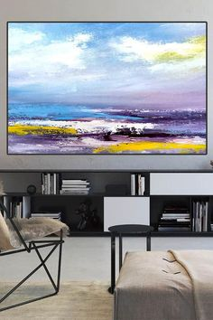 A seascape painting is the perfect way to bring the ocean into your home. #seascapes ….................. . #abstractart #acrylicpainting #abstractexpressionism #abstractpainting #art #abstract #paintingoncanvas #canvas #abstractobsession #abstracts #artofpainting #livingroomdecor #artwatchers #acrylicpaintingsforsale #abstractarts #artworkoncanvas #acrylicpaintingsforsale #artoninstagram #paintingoftheday Large Artwork, Large Canvas Wall Art, Abstract Canvas Art, Extra Large Wall Art, Large Painting, Modern Artwork, Seascape Paintings, Acrylic Paintings, Turquoise Painting