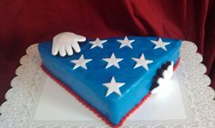 Folded Flag Cake.. This is awesome ! Will have to make this !