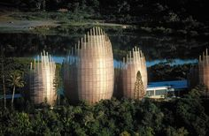 Designed to celebrate the vernacular Kanak culture—the indigenous culture of New Caledonia—the Jean-Marie Tjibaou Cultural Centre was named after the leader of the independence movement who was assassinated in 1989 and who had a vision of establishing a cultural centre which blended the linguistic and artistic heritage of the Kanak people.