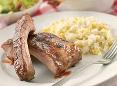 Barbecue Baby Back Ribs and Fresh Corn Risotto   Publix Simple Meals