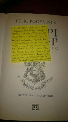 #PotterItForward Support for the new  generation from Greece!!!