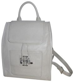 1b4b846b6d4c Tory Burch Britten Backpack on Tradesy Grey Leather, Pebbled Leather,  French Grey, Leather