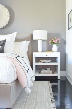 Spring decor Australia - Shades of Pink Spring Bedroom Home Tour Diy Home Decor Rustic, Diy Home Decor Bedroom, Bedroom Ideas, Bed Ideas, Pink Bedrooms, Pink Master Bedroom, White Bedroom, Woman Bedroom, Spring Home Decor