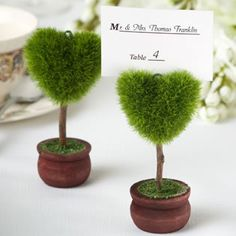 Topiary Place Card Holder Favors