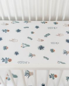 Cotton Muslin Crib Sheet - Prickle Pots | Little Unicorn