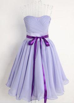 Vestido de fiesta plisado-violeta EUR€19.20