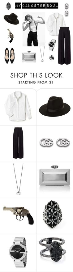 """My Gangster Soul"" by k-postal on Polyvore featuring мода, Lacoste, Lack of Color, Miss Selfridge, Gucci, Judith Leiber, Kendra Scott и blackandwhite"
