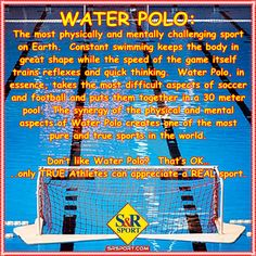 For our Water Polo Fans... ‪#‎waterpolo‬ ‪#‎RealSport‬ ‪#‎srsport‬ ‪#‎Infinity‬ ‪#‎RealAthlete‬ www.srsport.com