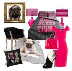 Puggy my love by chacharito on Polyvore featuring polyvore Roland Mouret Jimmy Choo Louis Vuitton