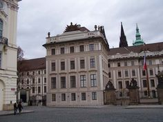Hradcany Square is a worthy front zone of the Prague Castle, Czech Republic