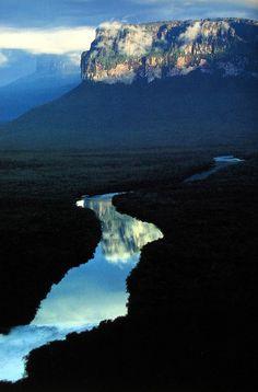 Looks like the Tepui's in Venezuela, Angel Falls territory.