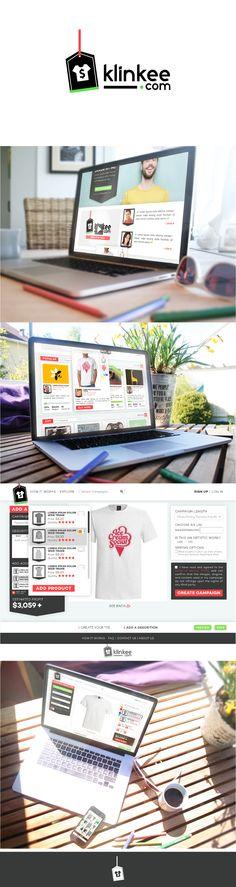 Visual Identity and Web design for Klinkee