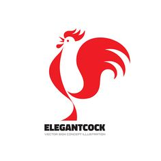 Elegant cock - rooster vector sign. Rooster vector sign. 벡터 아트 일러스트