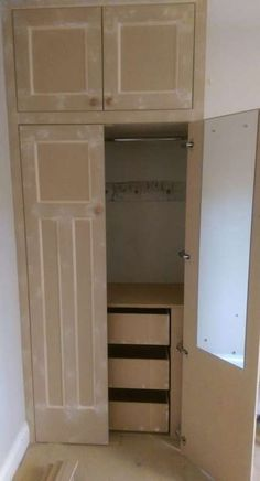 ideas for diy furniture bedroom wardrobe ideas – - Diy Möbel Built In Wardrobe Ideas Alcove, Diy Built In Wardrobes, Diy Fitted Wardrobes, Bedroom Built In Wardrobe, Wardrobe Drawers, Diy Wardrobe, Wardrobe Doors, Wardrobe Design, Perfect Wardrobe