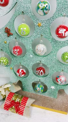 Diy d coration calendrier de l 39 avent bonhomme de neige for Decoration lumignon 8 decembre