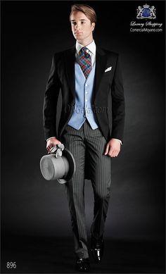 re Manteau Pantalon Designs Italien Noir Hommes Matin Costume De Bal smoking Terno Slim Fit 3 Piè Wedding Morning Suits, Wedding Suits, Wedding Attire, Groom Suit Vintage, Terno Slim Fit, Prom Tuxedo, Costume Noir, Morning Dress, Suits