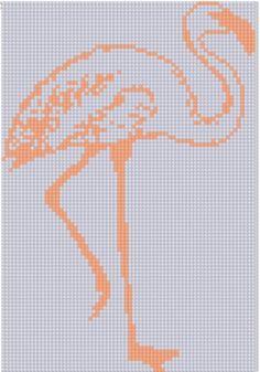 Flamingo Cross Stitch Pattern