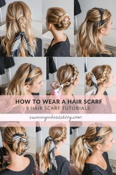 Side Braid Hairstyles, Loose Hairstyles, Scarf Hairstyles, Updo Hairstyle, Prom Hairstyles, Hair Scarf Styles, Headband Styles, Curly Hair Styles, Scarf Updo