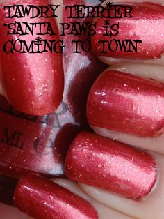 "@TawdryTerrier ""Santa Paws Is Coming To Town"" in the shade - available at https://www.etsy.com/shop/TawdryTerrier #nailpolish #indienailpolish #tawdryterrier #christmas"