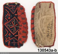Male wedding cuffs, ca Armmuddar @ DigitaltMuseum. Folk Costume, Costumes, Wedding Men, Embroidery Applique, Traditional Dresses, Folklore, Sweden, Textiles, Culture