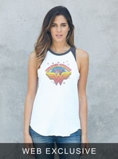 Wonder Woman Star Raglan Tank