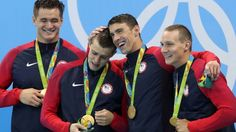 Phelps captures 19th gold medal as US wins 4x100-meter freestyle relay
