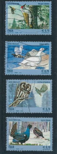 Owl postage stamp Italy.