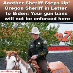 Go Sheriff!  I hope that more of you have the courage to stand up against oppression!  The only way to prevent tyranny is to act against them!