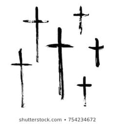 Similar Images, Stock Photos & Vectors of Crucifix cross hand drawn sketch paint brush vector icon set. Christianity orthodox, catholic religion isolated symbols set for Easter, funeral or grave memorial. Cross Tattoo For Men, Cross Tattoo Designs, Cross Hands, Black Grunge, Religious Symbols, Sketch Painting, Icon Set, Orthodox Catholic, Catholic Religion