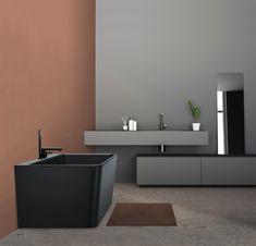 Saga badekar i svart matt kompositt Saga