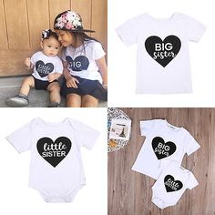 >> Click to Buy << Toddler Kid Girls Big/Little Match Sister Clothes Romper Outfit T-shirt Tops Summer White Cotton Clothing Support Drop Shipping #Affiliate