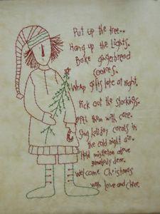 free primitive Christmas patterns | CHRISTMAS FREE PATTERN STITCHERY | Patterns For You