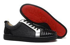 Christian Louboutin Sneakers Black Spikes Dark grey