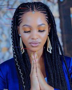 beautiful braids Cornrows in Front, Box Braids In The Back - Best Cornrow Hairstyles For Women: Sexy Cornrow Braids, Cute Braided Styles Box Braids Hairstyles, Braids Hairstyles Pictures, African Hairstyles, Hair Pictures, Black Women Hairstyles, Hairdos, Hairstyle Braid, Hairstyles Videos, School Hairstyles