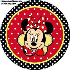 Kit Completo Minnie Vermelha - Com molduras para convites, rótulos para…