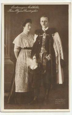 Erzherzogin Mechthildis und Prinz Olgierd Czartoryski, alte FotoAK 1913 | eBay