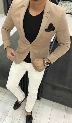 Mens Fashion Suits, Mens Suits, Business Casual Men, Men Casual, Formal Attire For Men, Classy Men, Classy Style, Herren Outfit, Blazer Outfits