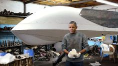 Obama Spends Afternoon In Garage Restoring Classic Drone