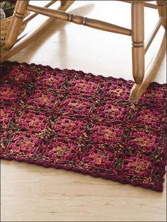Crochet - Tweed Granny Rug - #EC00327