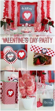 """How sweet is this """"Be Still my Heart"""" Valentine's Day party! See more party ideas at CatchMyParty.com."""
