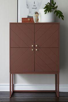 Skab af lakeret MDF Apartment Kitchen, Credenza, Sweet Home, Indoor, Cabinet, Storage, Inspiration, Furniture, Home Decor