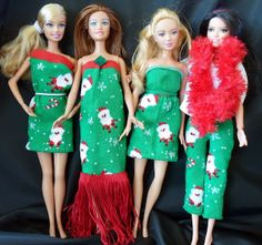 Happier Than A Pig In Mud: Barbie clothes from $1 socks, five garments from one pair-tutorial