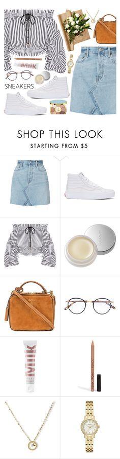 """White Sneakers 24-8-2017"" by anamarija00 ❤ liked on Polyvore featuring RE/DONE, Vans, Caroline Constas, SUQQU, Mark Cross, Garrett Leight, MILK MAKEUP, NYX, Kate Spade and tarte"