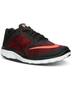 Nike Men's Fs Lite Run 3 Print Running Sneakers from Finish Line - Red 13