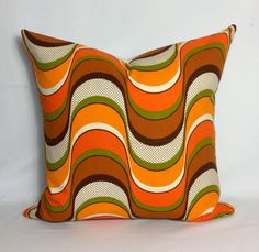 1970s Retro Psychedelic Cushion Cover  Vintage Scatter by Retro68, £22.50